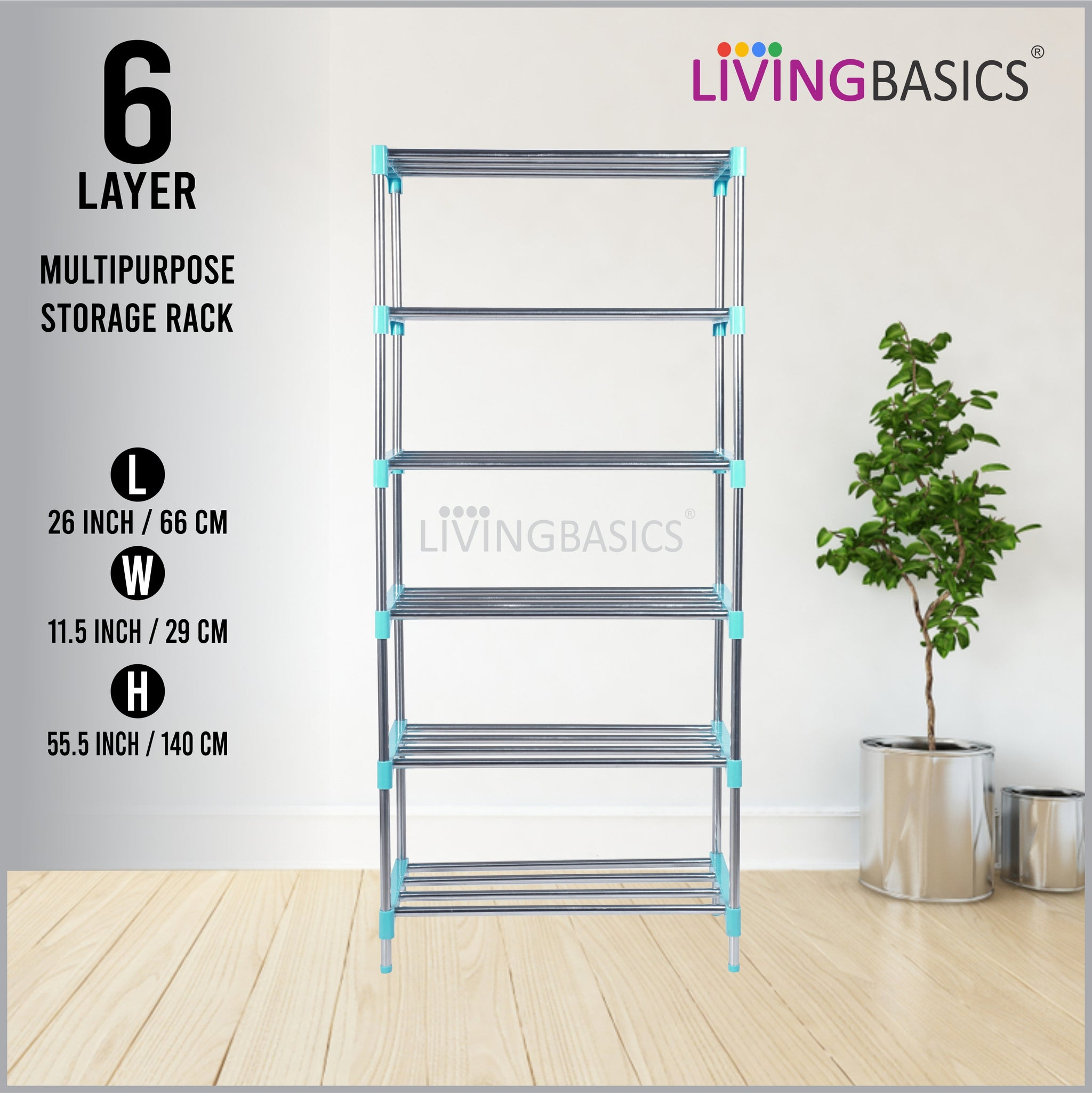 6 Layer Multipurpose Storage Rods Rack