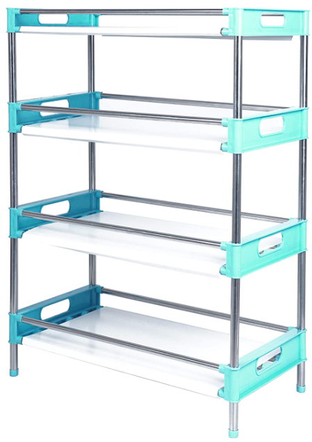 4 Layer Multipurpose Storage Shelves with Paper Looking Plastic Sheets