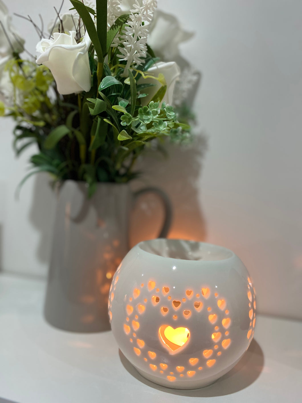 SMALL HEART ROUND CERAMIC BURNER