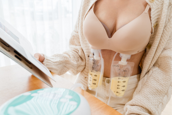Pumping hands-free with Free-T breast shields