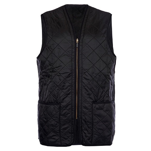 Barbour Polarquilt Waistcoat Zip-in Liner Black Size L