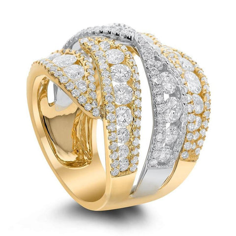 Cocktail ring with 3.80ct. of Total Diamond Weight ALR-14321_YG