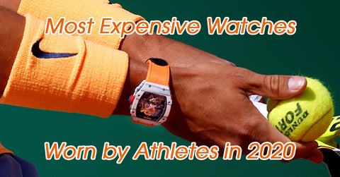 Watches worn by athletes