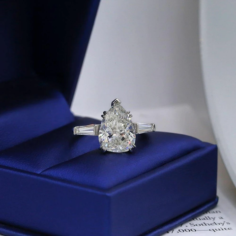 Platinum Engagement Diamond Ring featured with 5.59ct TCW ENG-75003
