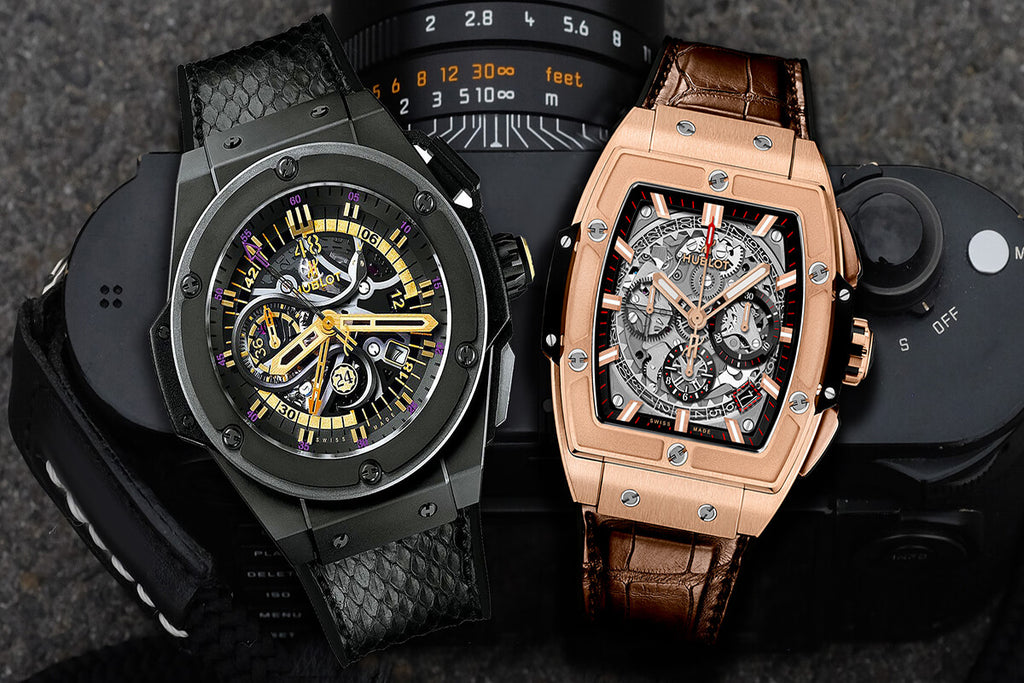 New|Used|Pre-owned Hublot watches for men|women (2021) in NYC: Big-Bang-(39|41|42|44|44.5|45|king|king-power|tourbillon)|Classic-Fusion-(33|38|40|42|45|ultra-thin)|MP-02-Key-of-Time|MP-05-LaFerrari|MP-07|MP-08-Antikythera|MP-09|MP-12|Techframe|Tourbillon