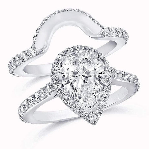 Magnificent GIA certified Platinum Wedding Set with 2.16ct. of Diamonds ENG-44290