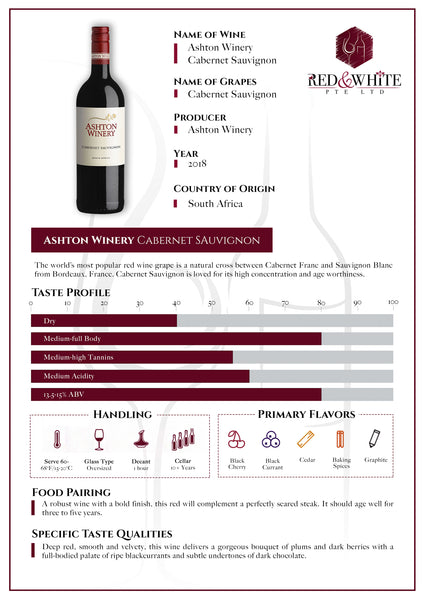 Ashton Winery Cabernet Sauvignon 2018