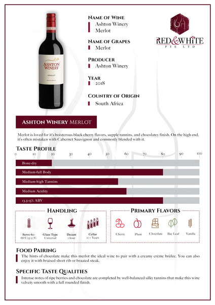 Ashton Winery Merlot 2018