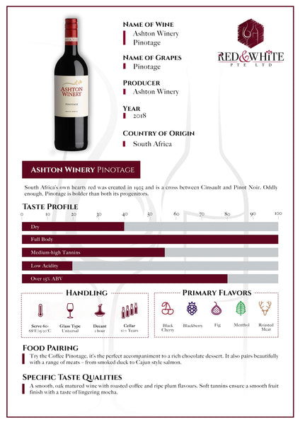 Ashton Winery Pinotage 2018