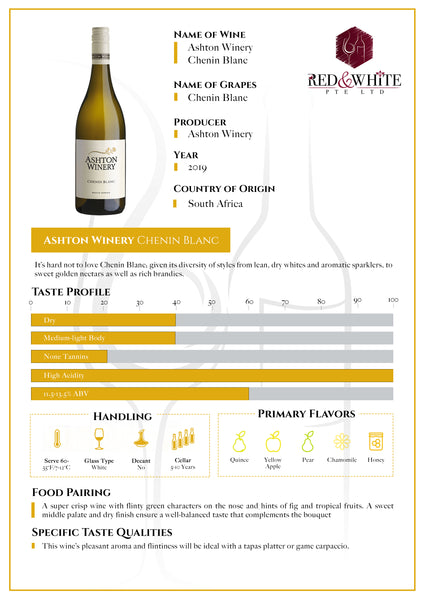 Ashton Winery Chenin Blanc 2019