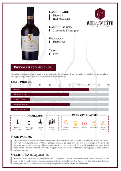 Rietvallei Red Muscadel 2018