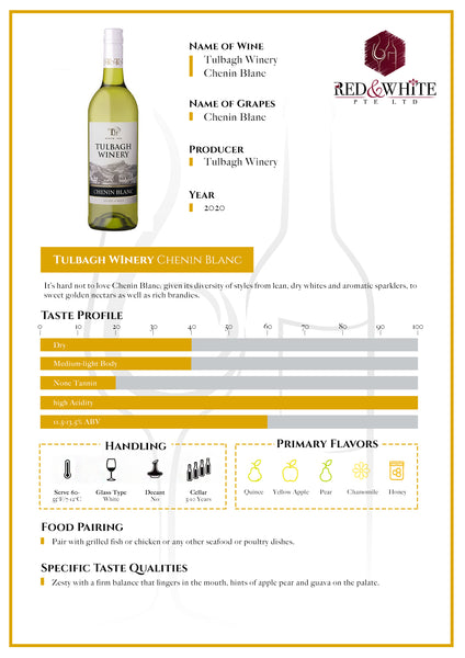 Tulbagh Winery Chenin Blanc 2020