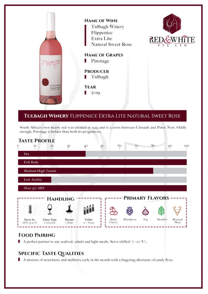 Tulbagh Winery Flippenice Xtra Lite Natural Sweet Rose 2019