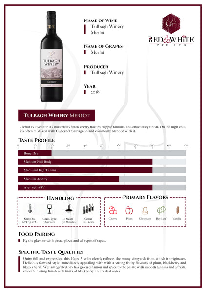 Tulbagh Winery Merlot 2018