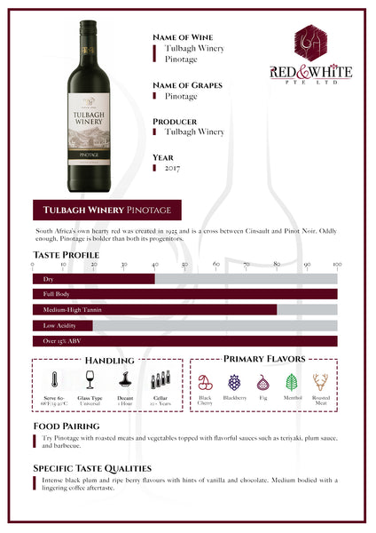 Tulbagh Winery Pinotage 2017