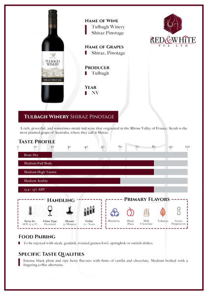 Tulbagh Winery Shiraz/Pinotage NV