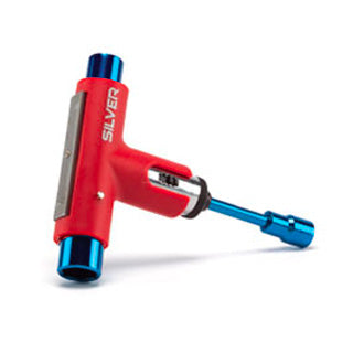 SILVER SKATE TOOL RED/BLUE