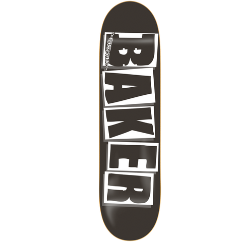 Baker Brand Logo - Black/White Deck 8.25''
