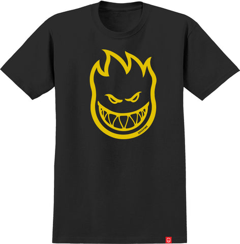 SPITFIRE BIGHEAD YOUTH T- SHIRT BLACK/YELLOW