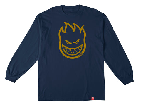 Spitfire Long Sleeve Youth T Shirt Blue/Gold