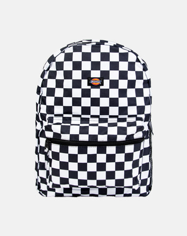 DICKIES LG  BACK PACK BLACK & WHITE CHECK