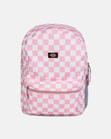 DICKIES LG BACK PACK PINK & WHITE CHECK