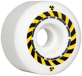 Madness Hazard Sign CP Conical Surelock Wheels White 52mm