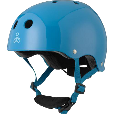 Triple 8 LIL 8 Blue Gloss Helmet