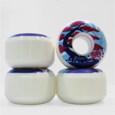 "Picture Wheel Co - 80A Soft Street ""Kushi"" Wheels 56mm"