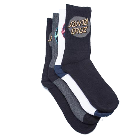 Santa Cruz Cruz Pop Youth Socks 4pk
