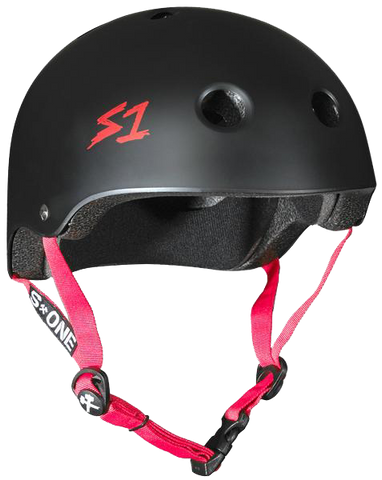 S1 Lifer Helmet - Black Matte w/ Red Straps