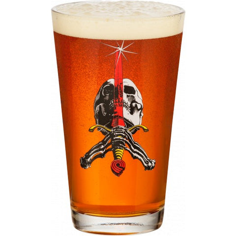 Powell Peralta Skull and Sword Pint Glass