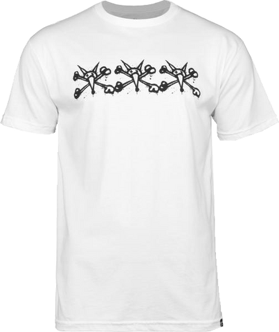 BONES WHEELS Tres Vatos T-shirt White