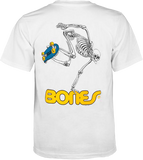 Powell Peralta Skateboarding Skeleton Youth T-shirt White