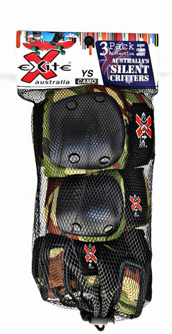 Exite - The Critters Premium- 3 pack youth protection Green Camo