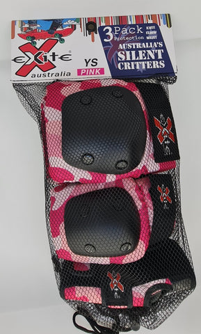 Exite - The Critters Premium- 3 pack youth protection Pink Camo