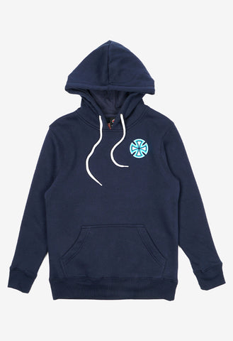 INDEPENDENT NEON CROSS YOUTH POP HOOD UNION BLUE