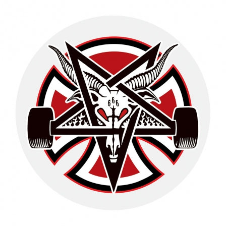 Thrasher Pentagram Cross Sticker 2.75 inch X 2.75