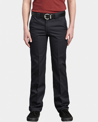 DICKIES SLIM FIT STRAIGHT YOUTH PANT BLACK