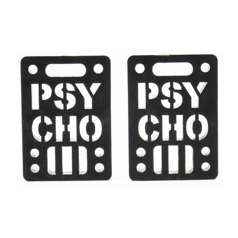 "PSYCHO SOFT 1/8"" RISERS BLACK"