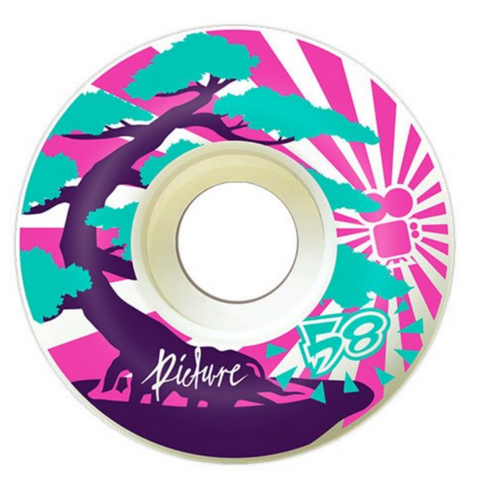 "Picture Wheel Co - 80A Soft Street ""Kushi"" Wheels 58mm"