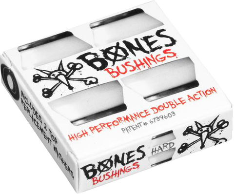 BONES Hardcore Bushings - Hard - White (2 sets)