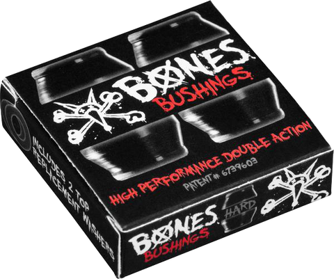 BONES Hardcore Bushings - Hard - Black (2 sets)