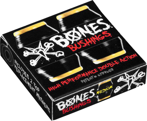 BONES Hardcore Bushings - Medium - Black (2 sets)