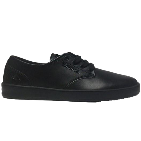 EMERICA - ROMERO LACED SMU MENS SHOES BLACK LEATHER