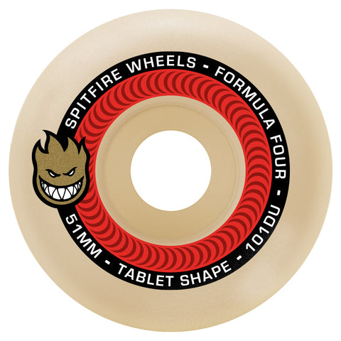 SPITFIRE WHEELS FORMULA FOUR 101D TABLETS 52MM