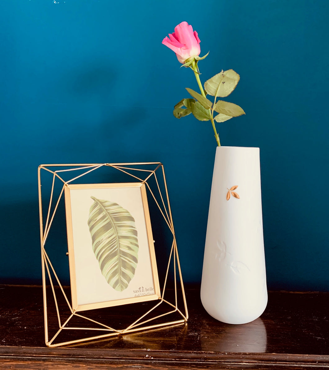 Gold Leaf Porcelain Vase