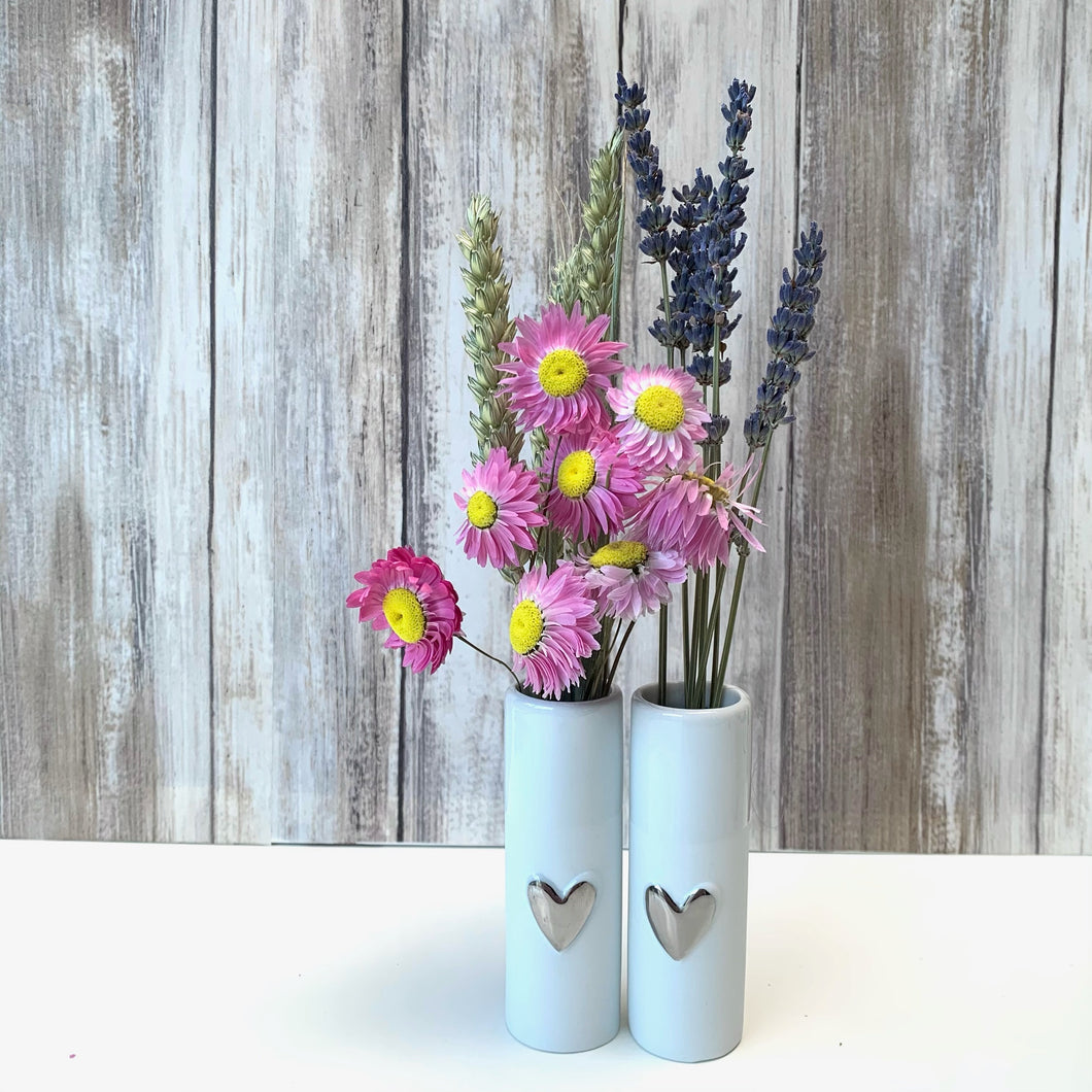Love Heart Mini Vases - Set of 2