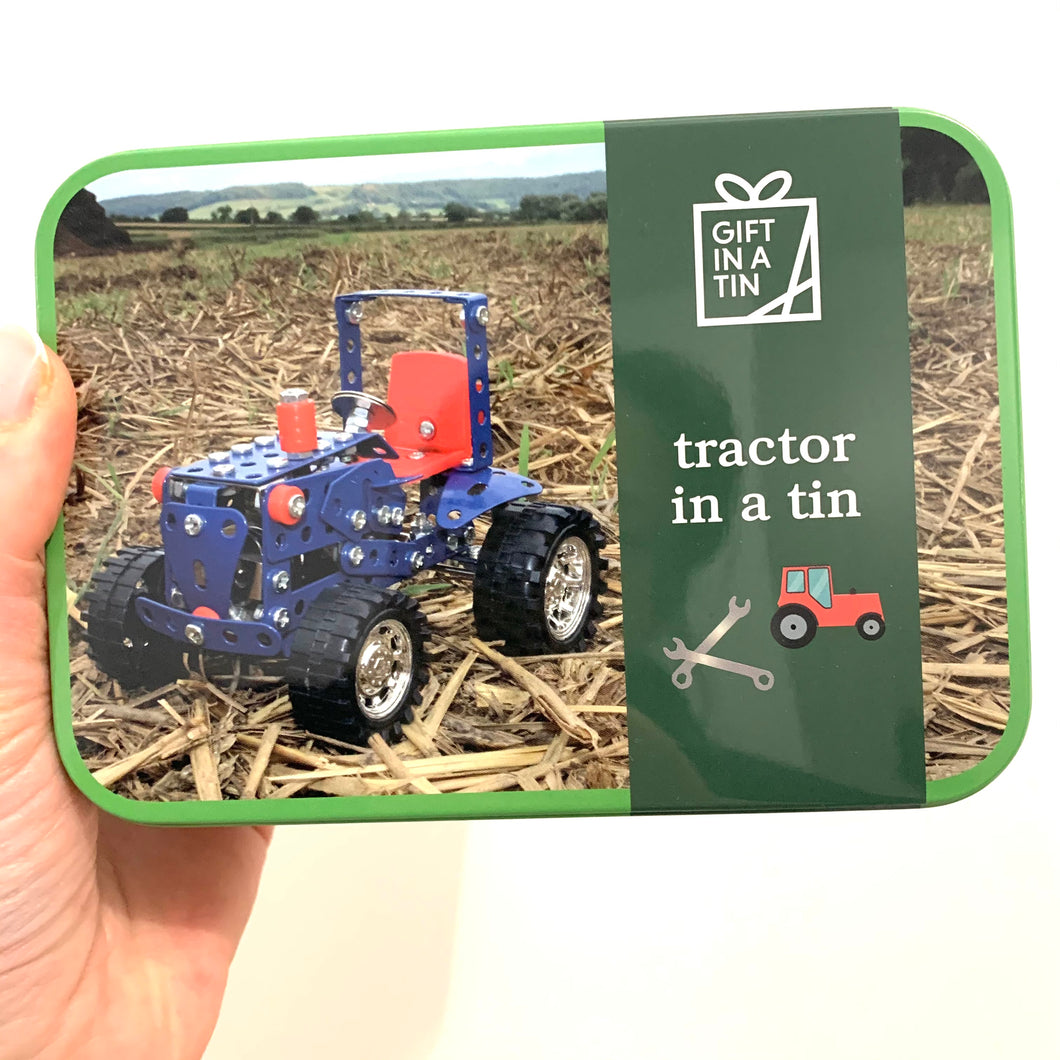 Tractor in a Tin Kids Construction Kit