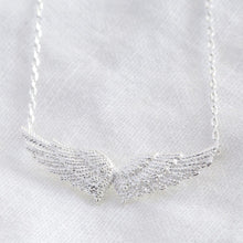 Load image into Gallery viewer, Silver Angel Wing Pendant Necklace